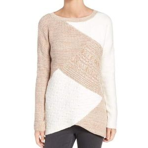 TROUVE Colorblock Mixed Knit Sweater S